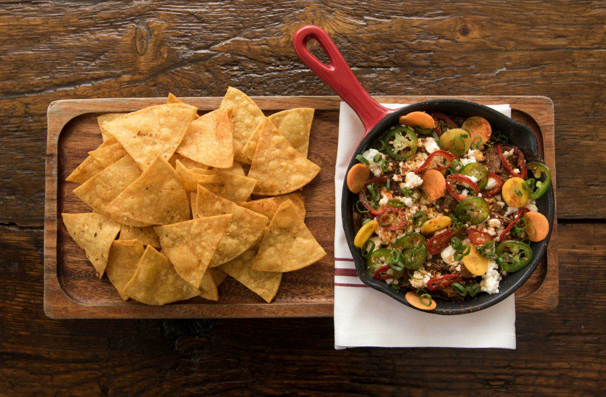 Tamarind & Ancho Braised Short Rib Chili Dip from chef Carl Dooley of the Table at Season to Taste