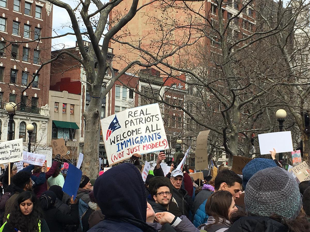 January 29 Boston Trump Protest