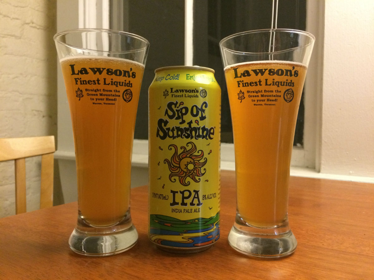 Lawson's Finest Liquids Sip of Sunshine hits Massachusetts bars and retailers this week