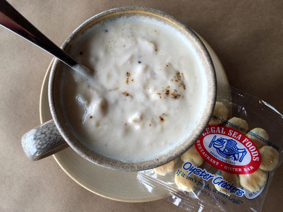 Chowder at Legal Sea Foods