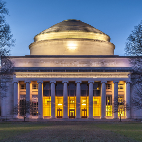 Cambridge, USA - March 30, 2012: The main building of the Massachusetts Institute of Technology in Cambridge, MA, USA showcasing its neoclassic architecture at sunset on March 30, 2012.