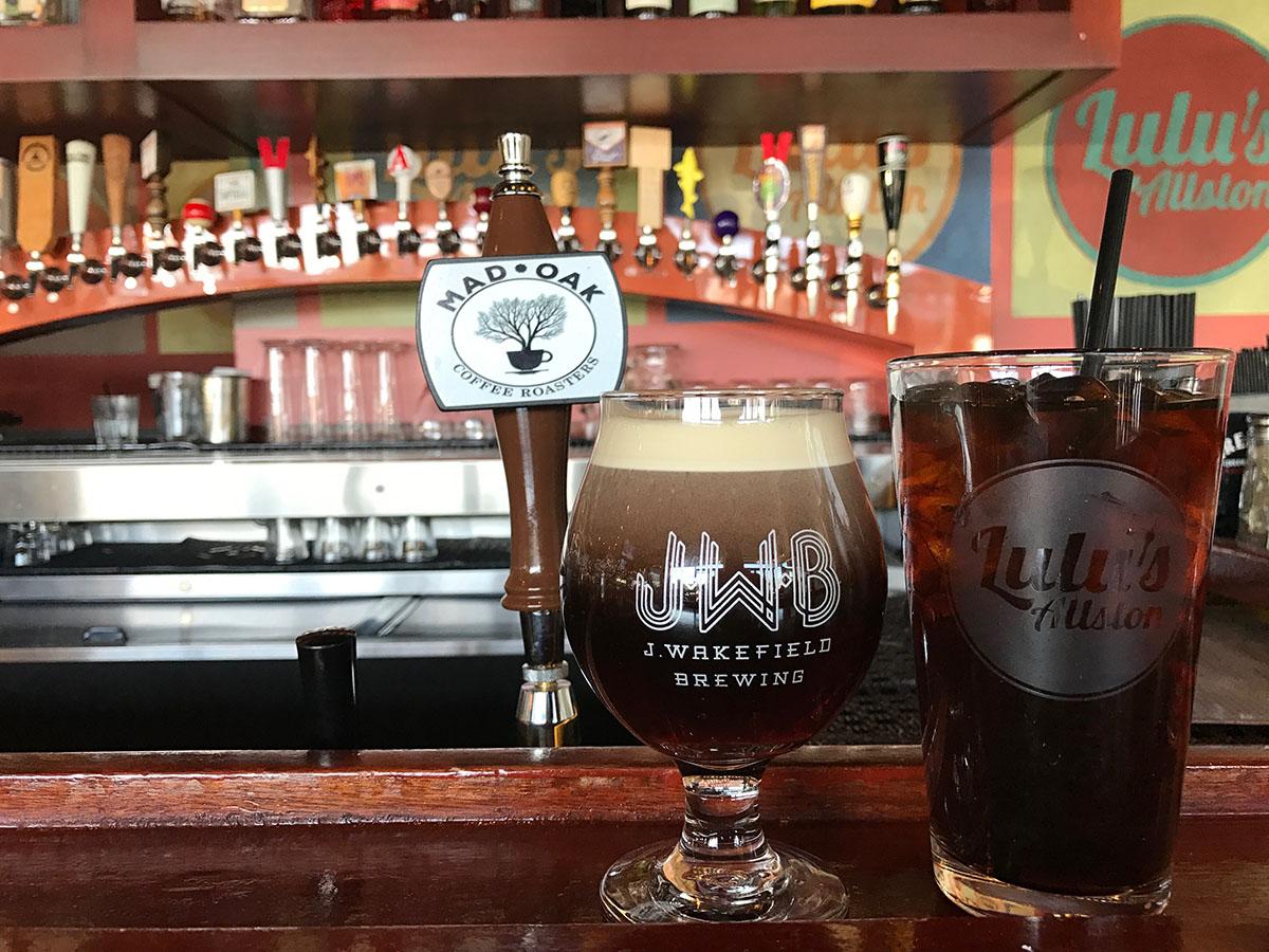 Mad Oak Coffee Roasters is available on draft at Lulu's Allston