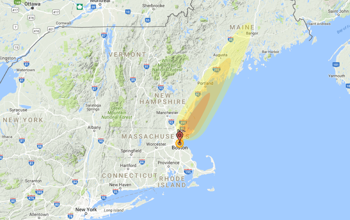 How Far Is New York From Boston >> How Much Of Boston Would Be Destroyed By Nuclear War