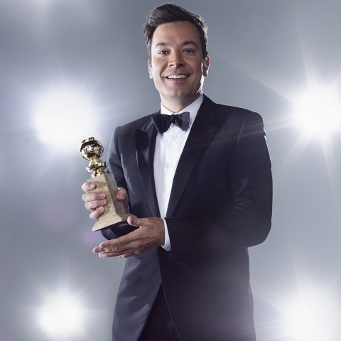 GOLDEN GLOBE AWARDS -- 74th Annual Golden Globe Awards -- Pictured: Jimmy Fallon -- (Photo by: Peggy Sirota/NBC)