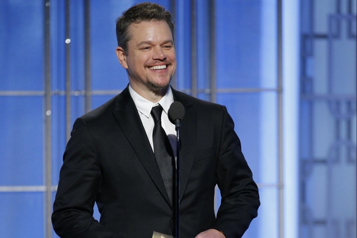 Matt Damon at the 2017 Golden Globes.