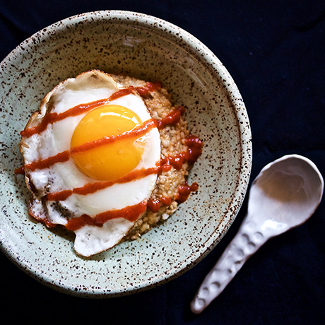 Sriracha fried egg at Oat Shop
