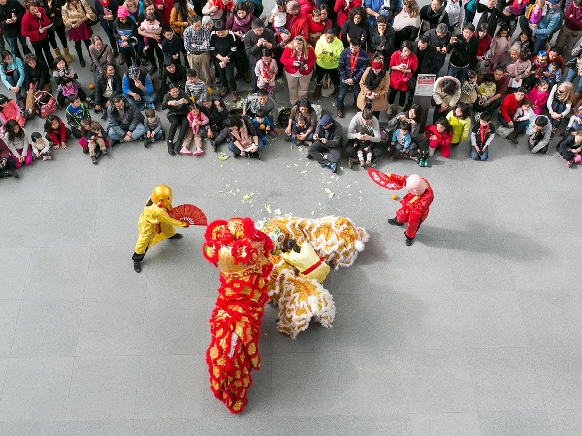 The MFA celebrates Lunar New Year with lion dance demonstrations.