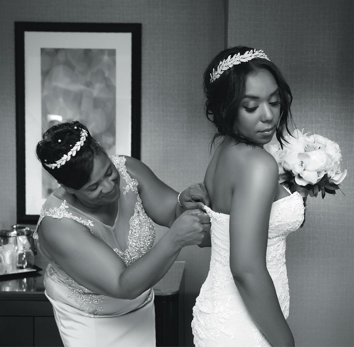 Samantha Jeudy Jamar Tyler real wedding 1