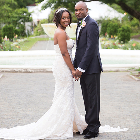 Samantha Jeudy Jamar Tyler real wedding sq