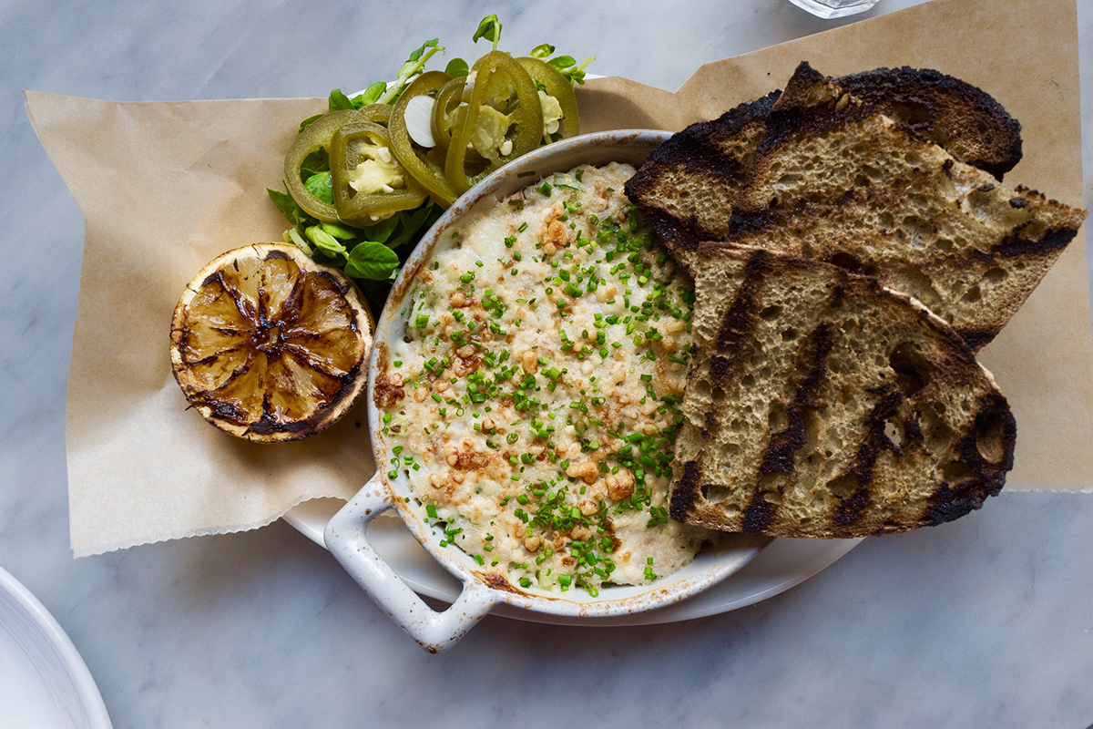 Warm trout dip from chef Michael Scelfo
