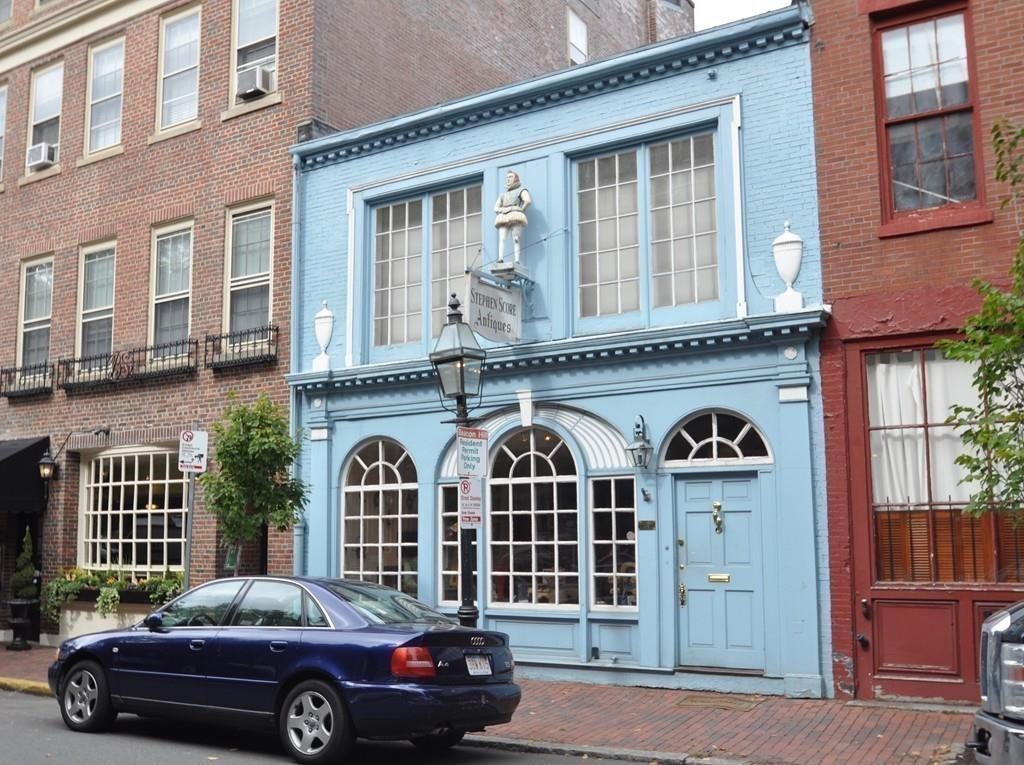 beacon hill blue building