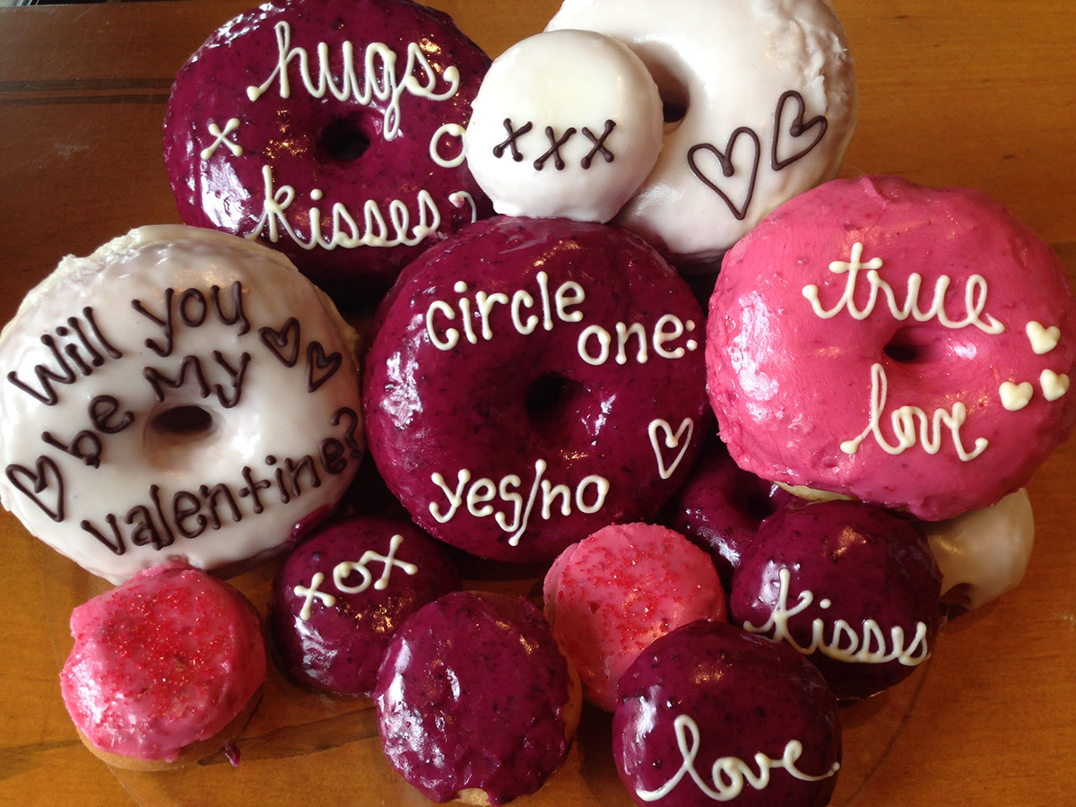 Valentine's Day doughnuts at Blackbird. / Photo provided