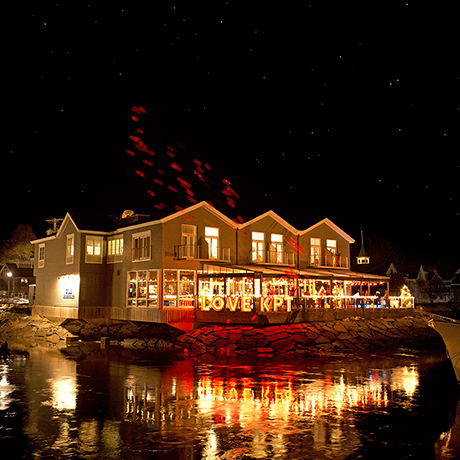"""Table, """"Earth"""" pop-up dinner. Kennebunkport, Maine."""