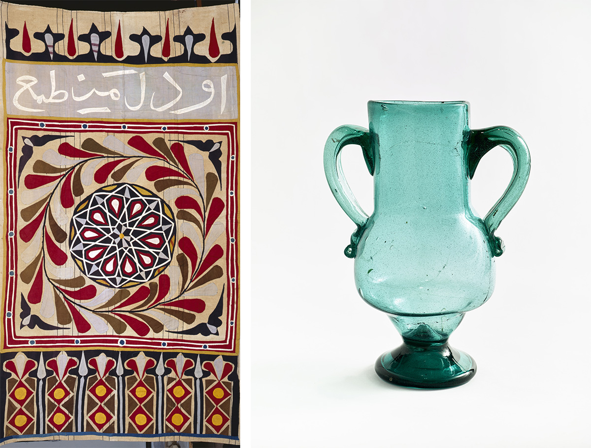 Matisse's Egyptian tent curtain and vase / Images courtesy of Museum of Fine Arts, Boston