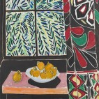 Interior with Egyptian Curtain 	Henri Matisse (French, 1869–1954) 	1948 	Oil on canvas 	*The Phillips Collection, Washington D.C. 	*Courtesy, Museum of Fine Arts, Boston