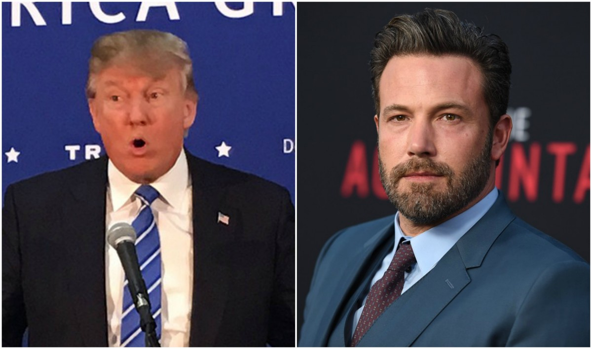 Donald Trump and Ben Affleck