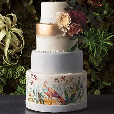 wedding cakes flowers pairings sq