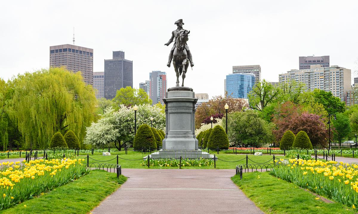 women's march boston common public garden