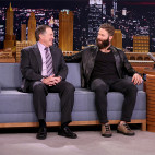THE TONIGHT SHOW STARRING JIMMY FALLON -- Episode 0618 -- Pictured: (l-r) Superbowl champions Bill Belichick and Julian Edelman during an interview with host Jimmy Fallon on February 6, 2017 -- (Photo by: Andrew Lipovsky/NBC)