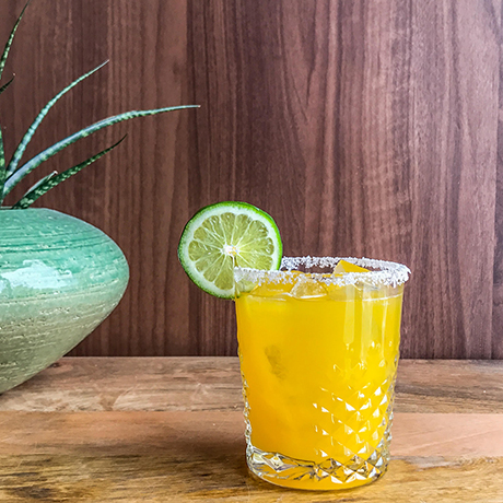Passionfruit margarita at Burro Bar