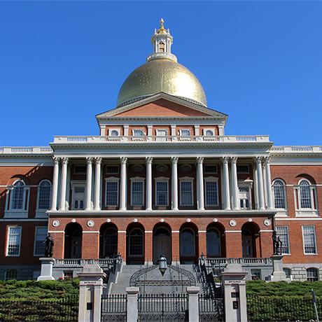 Massachusetts State House square