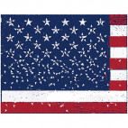 american flag illustration sq