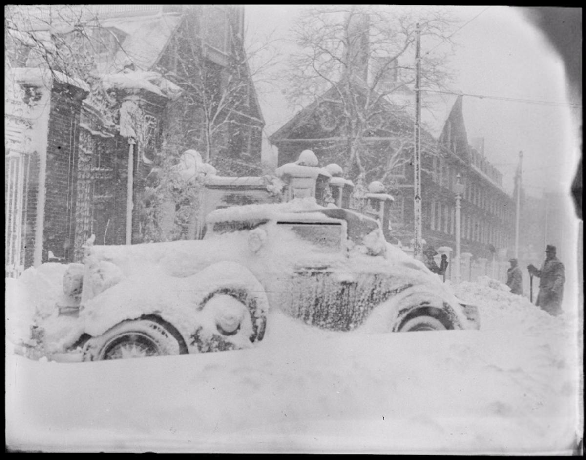 old photos boston blizzards