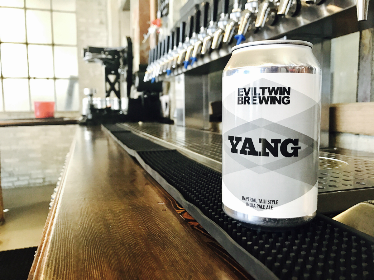 Yang IPA by Evil Twin, now brewed and available at Dorchester Brewing Company