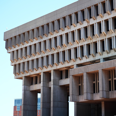 Side View of a Boston City Hall