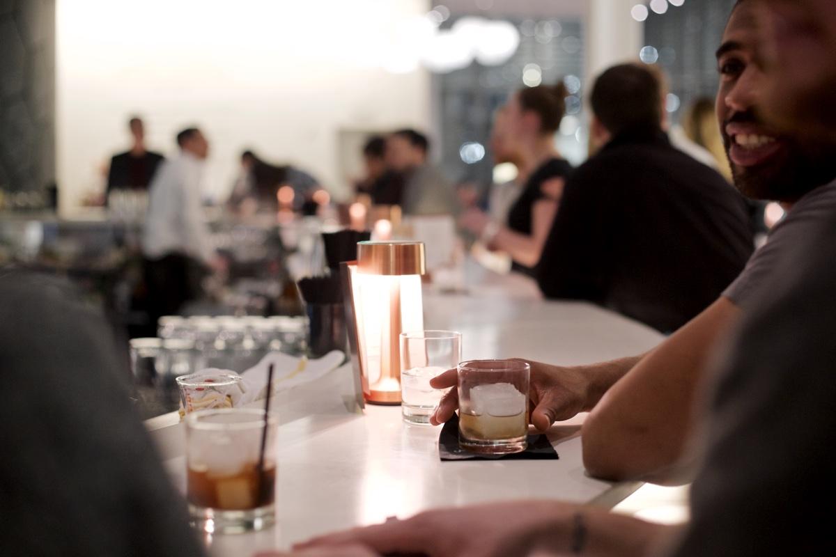 The bar at Café ArtScience