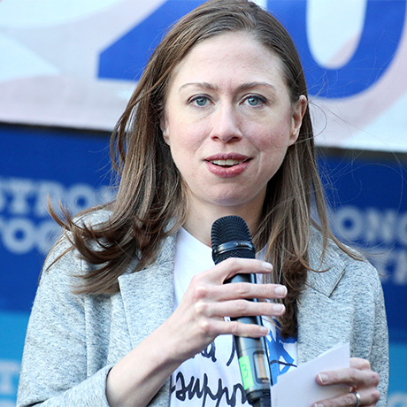 ELKINS PARK, PA - NOVEMBER 6 : Chelsea Clinton pictured campaigning in Pennsylvania for Hillary Clinton at  a series of Get Out the Vote kickoffs in Southeast Pennsylvania, she laid out the stakes of November's election and urged Pennsylvanians to support Hillary Clinton and Tim Kaine's vision of an America that is stronger together, with an economy that works for everyone, not just those at the top at the Elkins Park Coordinated Campaign Office in Elkins Park, Pa on November 6, 2016  photo credit Star Shooter/MediaPunch/IPX