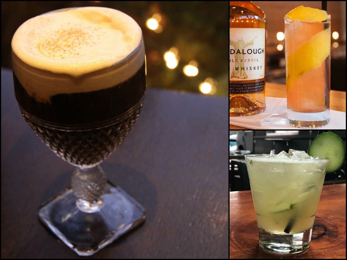 (Clockwise) 1) Irish Coffee at Grafton Street Pub / Photo provided / 2) St. Kevin Sling at Drink / Photo by Eric Luciano provided / 3) Irish Maid at Coppersmith / Photo provided /
