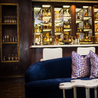 The new lobby bar at Hotel Marlowe in Cambridge