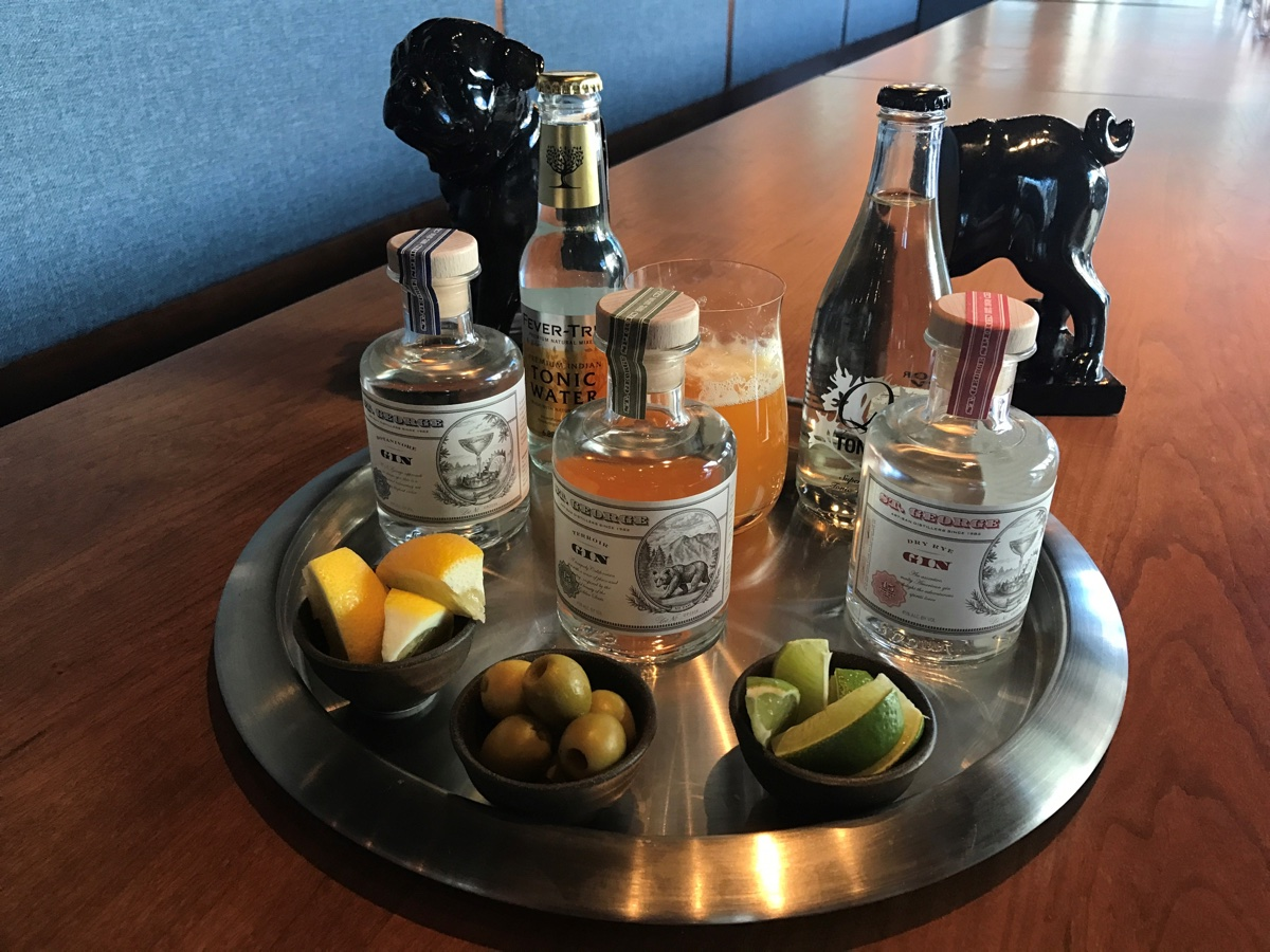 Pagu gin and tonic tasting.