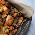 Chicken and roasted vegetables