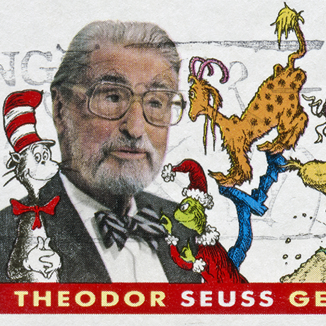 """Richmond, Virginia, USA - May 21st, 2012:  Cancelled Stamp From The United States Featuring The Children's Book Author, Theodor Seuss Geisel."""