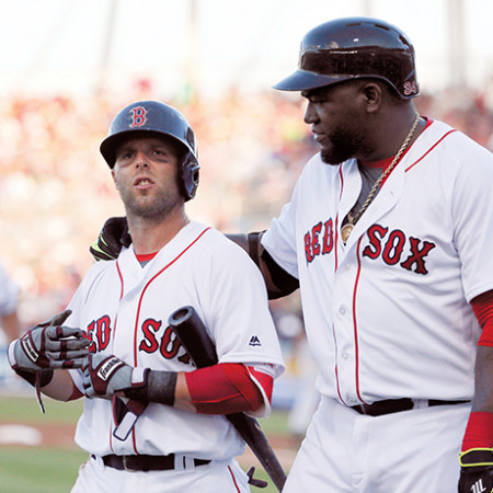 dustin pedroia david ortiz red sox sq