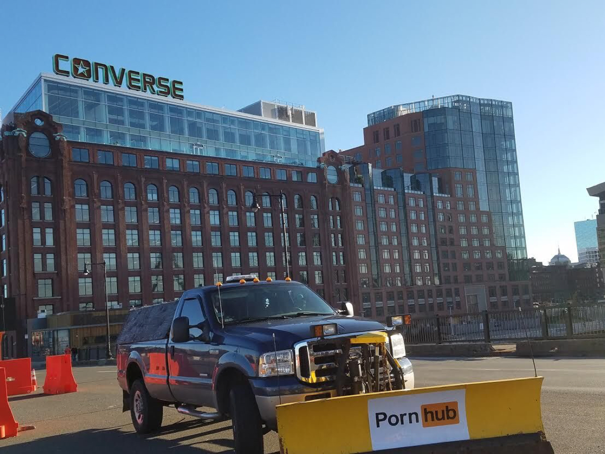 news blog pornhub snow plow boston