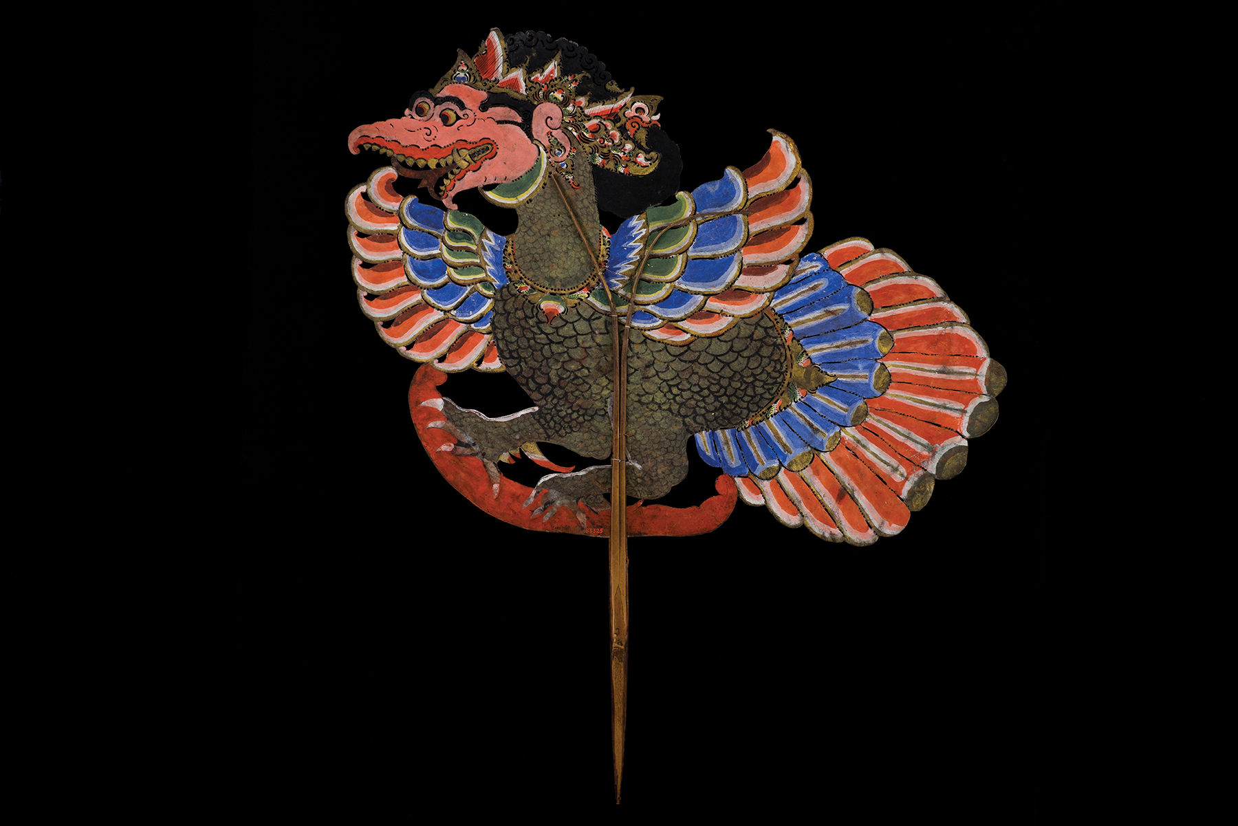 Shadow puppet Garuda figure, Java. PM 11-49-70/83325. Peabody Museum of Archaeology & Ethnology. Copyright President and Fellows of Harvard College.