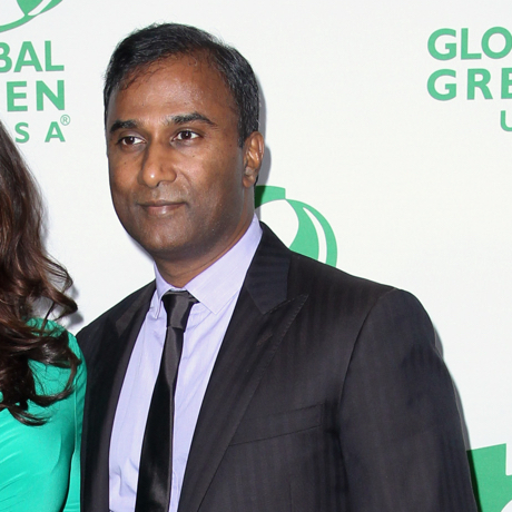 Fran Drescher, left, and Shiva Ayyadurai arrive at the Global Green USA's 12th Annual Pre-Oscar Party at the Avalon Hollywood on Wednesday, Feb. 18, 2015, in Los Angeles. (Photo by John Salangsang/Invision/AP)