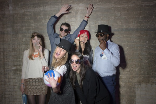 Party goers trying out the Sharingbox photo booth / Photo by Christine Belsky