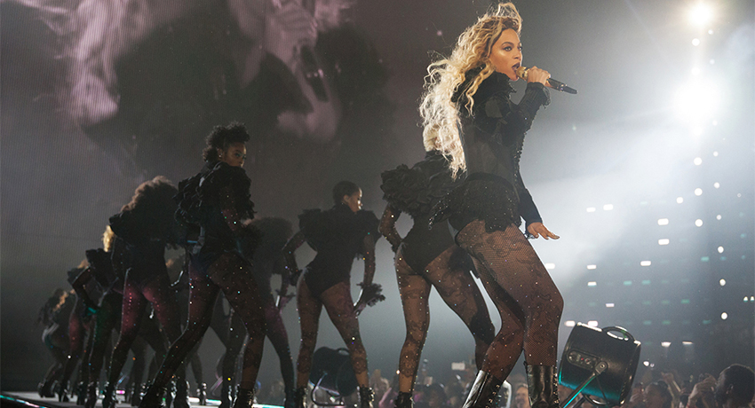 IMAGE DISTRIBUTED FOR PARKWOOD ENTERTAINMENT - Beyonce performs during the Formation World Tour at Soldier Field on Friday, May 27, 2016, in Chicago. (Photo by Daniela Vesco/Invision for Parkwood Entertainment/AP Images)
