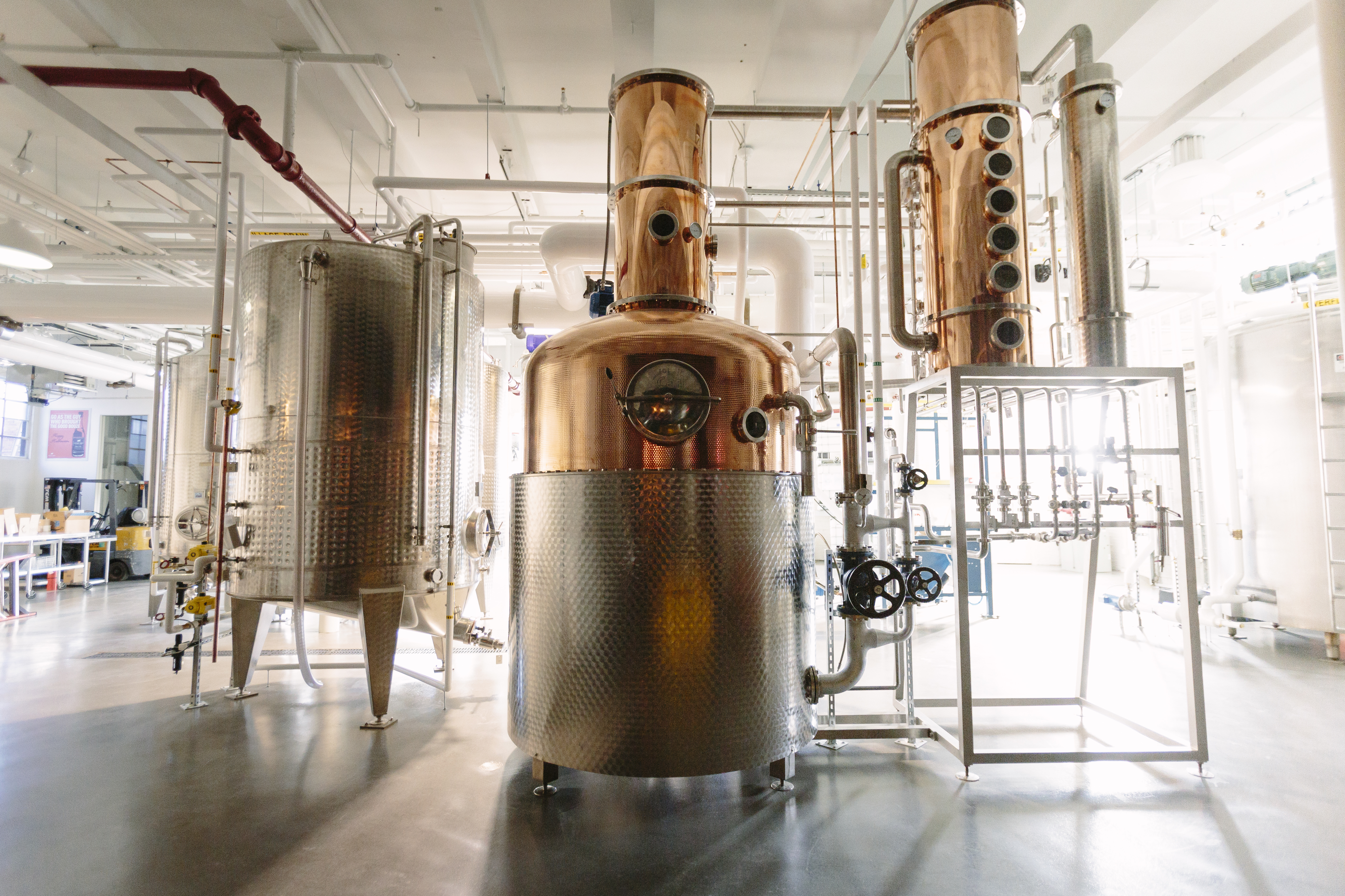 The 750-gallon copper pot still at Bully Boy Distillers
