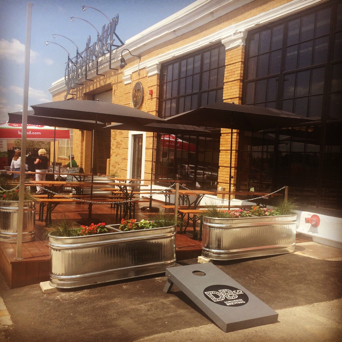Dorchester Brewing Co. patio
