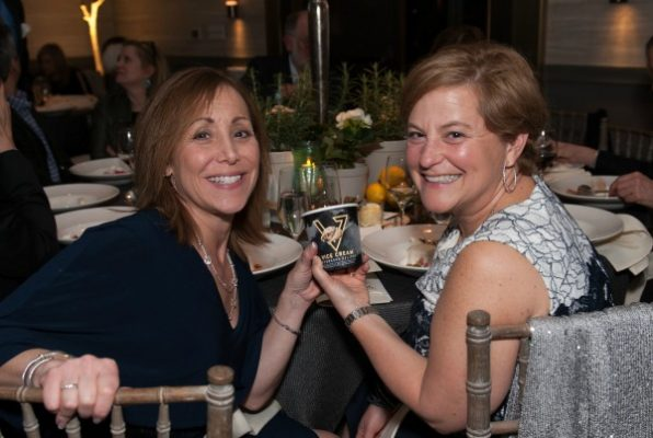 Friends Board members, Debbie Maltzman and Rebecca Latimore enjoy a pint of Vice Cream, donated by Vice Cream Founder and cancer survivor, Dan Schorr / Photo by Melissa Ostrow