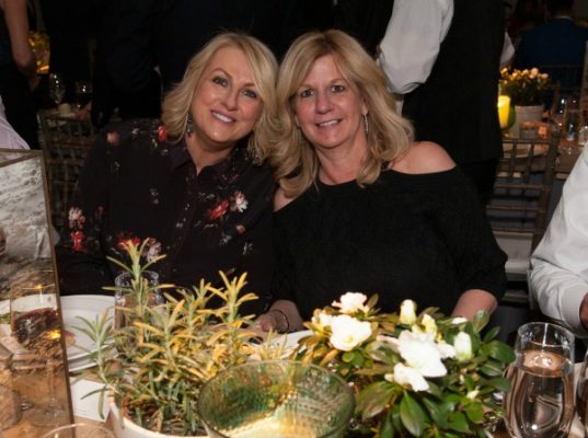 Event sponsors, Elaine MacElroy and Cheryl Eckel enjoy the evening / Photo by Melissa Ostrow