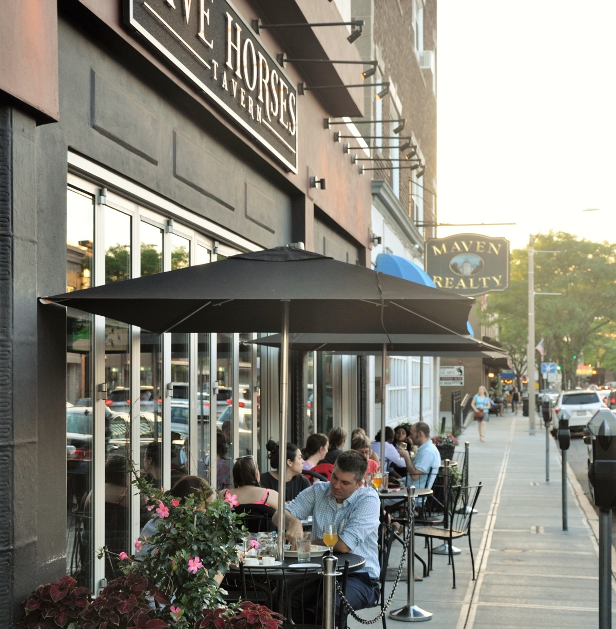 The patio is now open at Five Horses Tavern in Davis Square