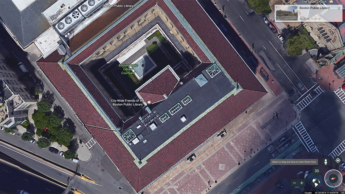 Google Earth Boston Public Library