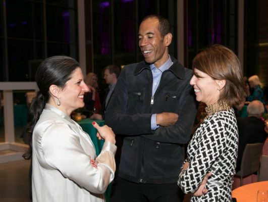 Katie Getchell, Deputy Director, MFA, with Daren Bascome and Chris Needham of Proverb / Photo by Michael Blanchard