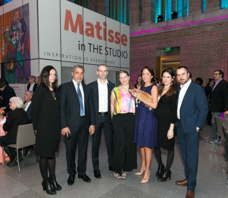 Matisse family: Emilie Miege, Amar Zribi, Jean-Matthieu Matisse, Ariel Matisse, Sophie Matisse, Connie Matisse, and Alex Matisse / Photo by Michael Blanchard